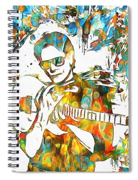 Steve Vai Paint Splatter Spiral Notebook