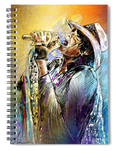 Steven Tyler 01  Aerosmith Spiral Notebook