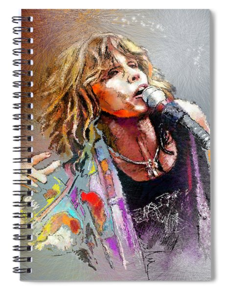 Steven Tyler 02  Aerosmith Spiral Notebook