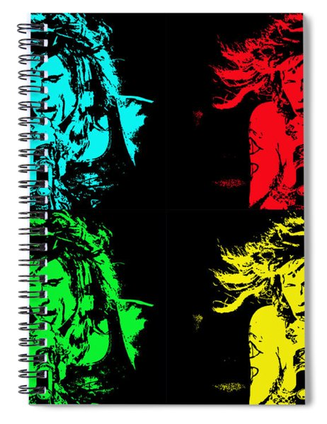 Steven Tyler Pop Art Spiral Notebook