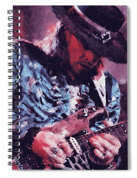 Stevie Ray Vaughan - 25 Spiral Notebook