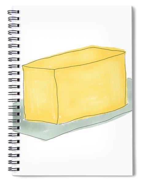 Stick Of Butter- Art By Linda Woods Spiral Notebook