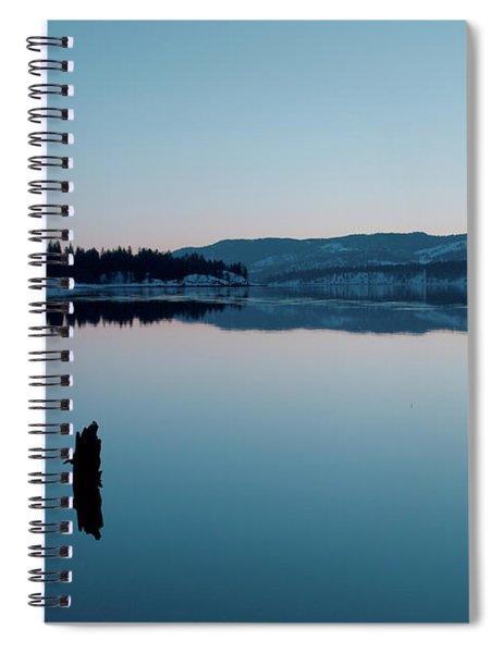 Still Blue Spiral Notebook