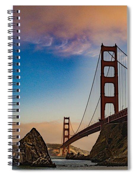 Still Golden Spiral Notebook