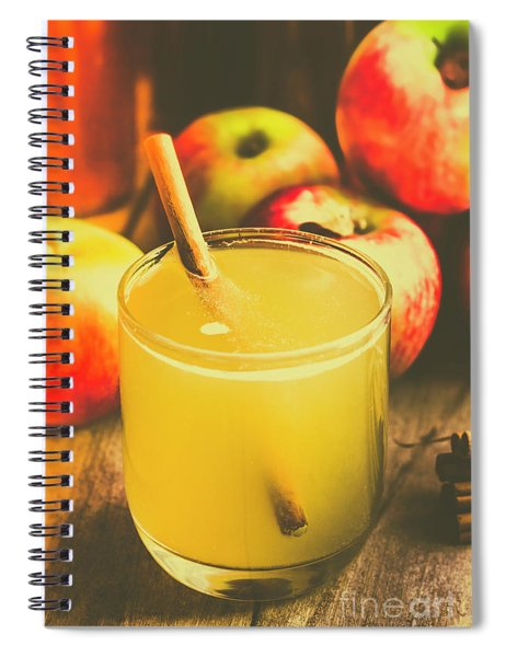 Still Life Apple Cider Beverage Spiral Notebook