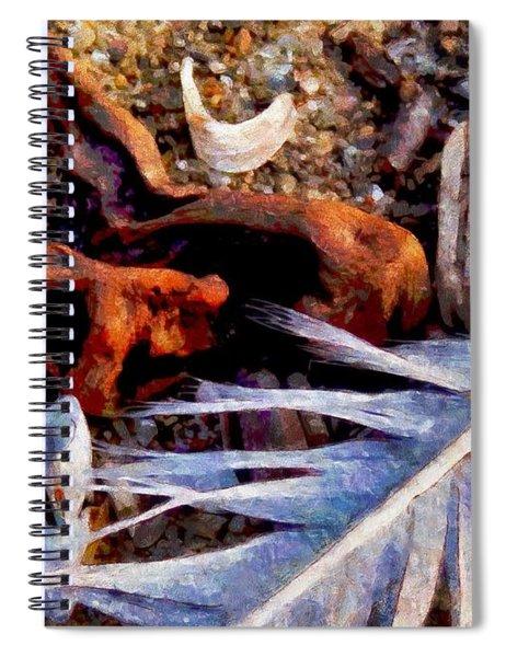 Still Life At Beach 2015 Spiral Notebook