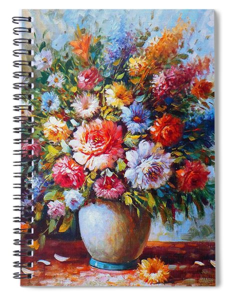 Still Life Colourful Flowers In Bloom Spiral Notebook