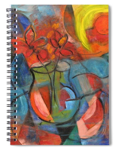 Still Life-flowers With Fruit Spiral Notebook