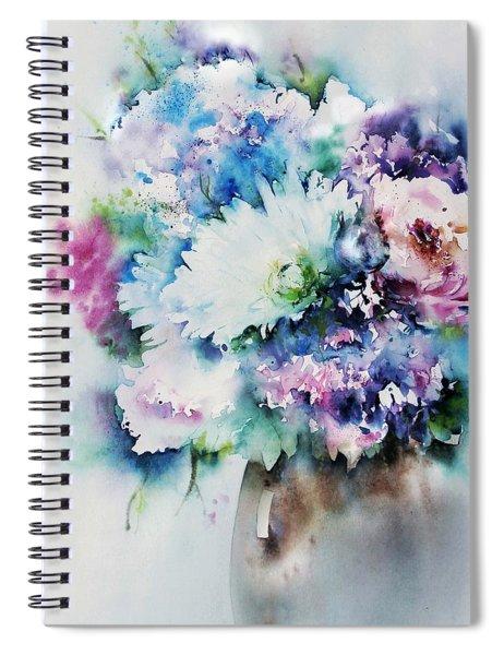 Still Life Rose Bouquet Watercolour Spiral Notebook