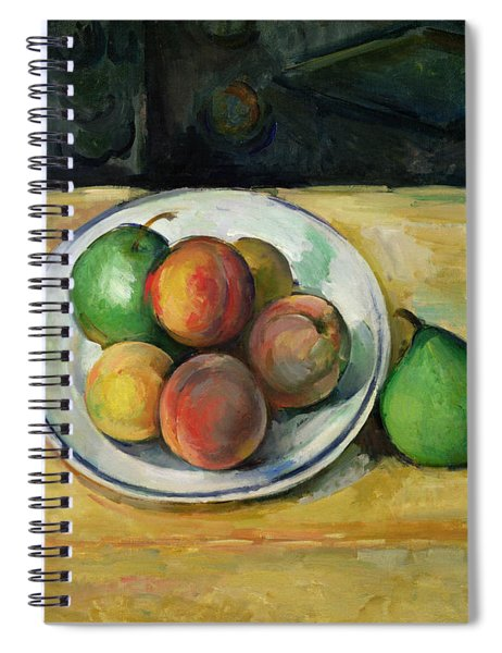 Still Life With A Peach And Two Green Pears Spiral Notebook