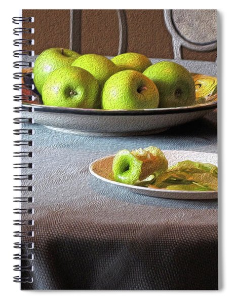 Still Life With Apples And Chair Spiral Notebook