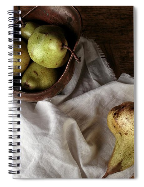 Still-life With Arrangement Of Pears  Spiral Notebook