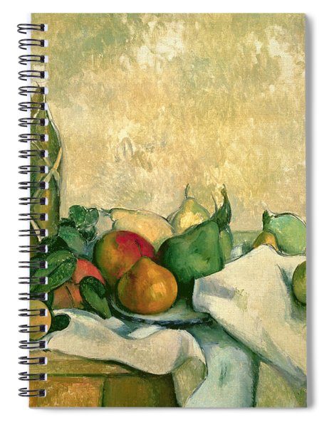 Still Life With Bottle Of Liqueur Spiral Notebook