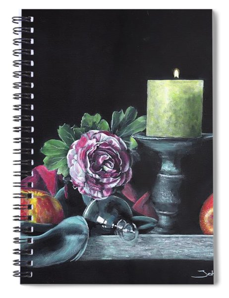 Still Life With Candle Spiral Notebook