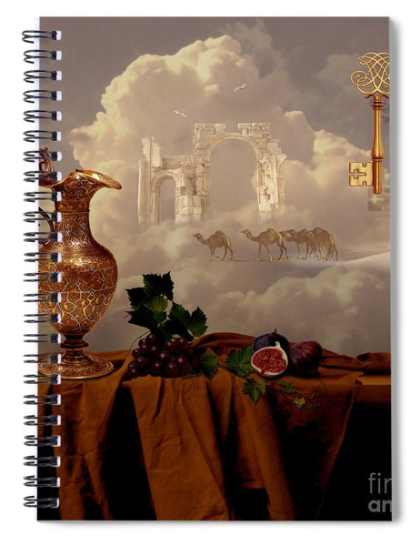 Still Life With Gold Key Spiral Notebook