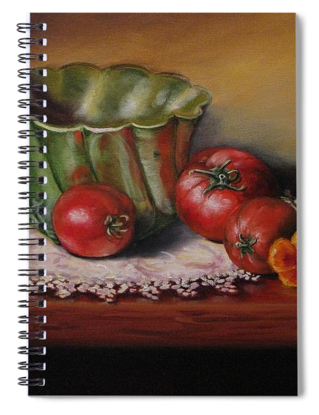 Still Life With Green Bowl Spiral Notebook
