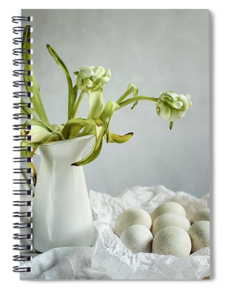 Still Life With Tulips And Eggs Spiral Notebook