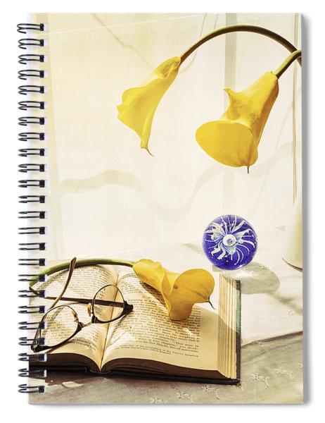 Still Life - Yellow Calla Lilies Spiral Notebook
