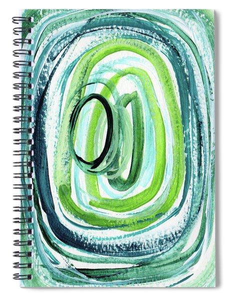Still Orbit 9- Abstract Art By Linda Woods Spiral Notebook