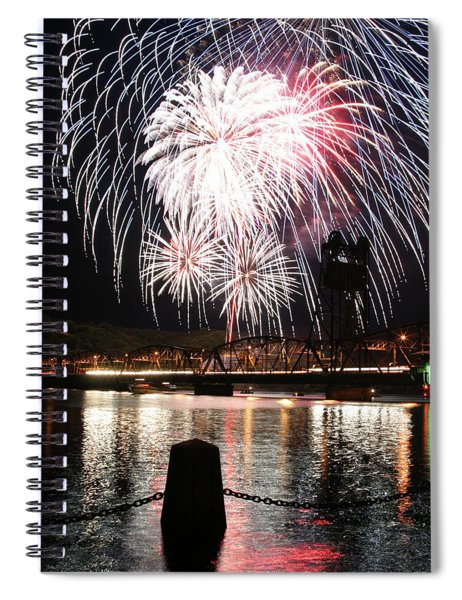 Stillwater Fireworks Fourth Of July Spiral Notebook