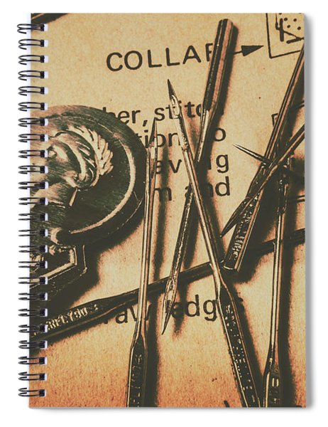 Stitching The Worn Spiral Notebook