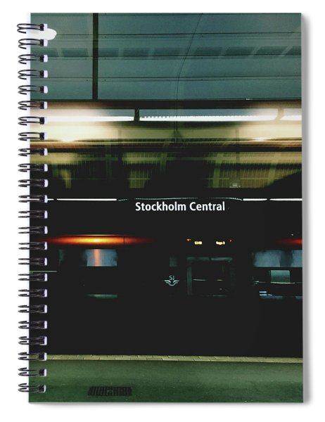 Stockholm Central- Photograph By Linda Woods Spiral Notebook