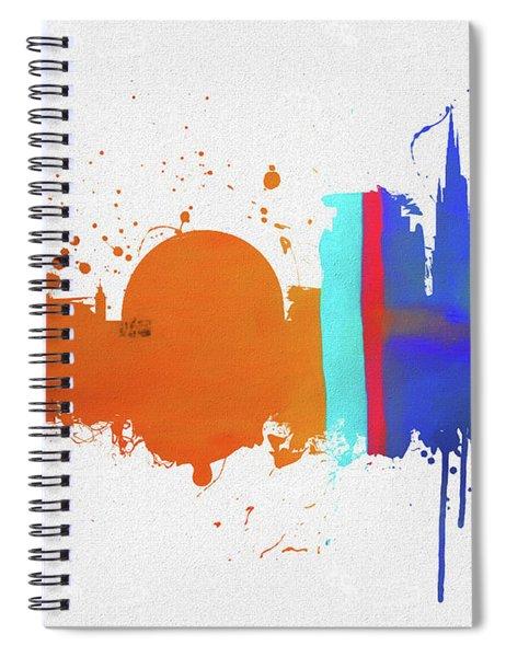 Stockholm Colorful Skyline Spiral Notebook