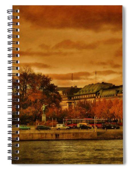 Stockholm In Autumn Vi Spiral Notebook