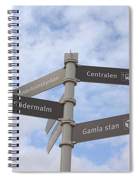 Stockholm Street Signs Spiral Notebook