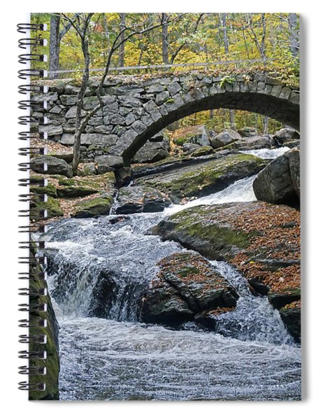 Stone Arch Bridge In Autumn Spiral Notebook