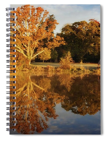 Spiral Notebook featuring the photograph Stone Bridge And Boat House - Kildare, Ireland by Barry O Carroll