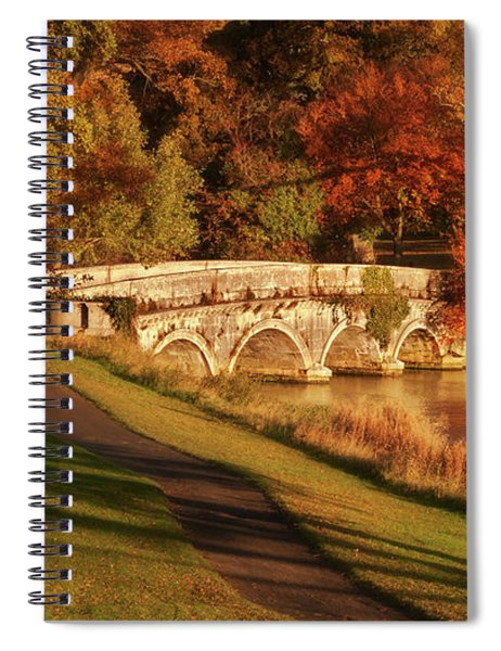 Spiral Notebook featuring the photograph Stone Bridge On The Rye Water - Kildare, Ireland by Barry O Carroll