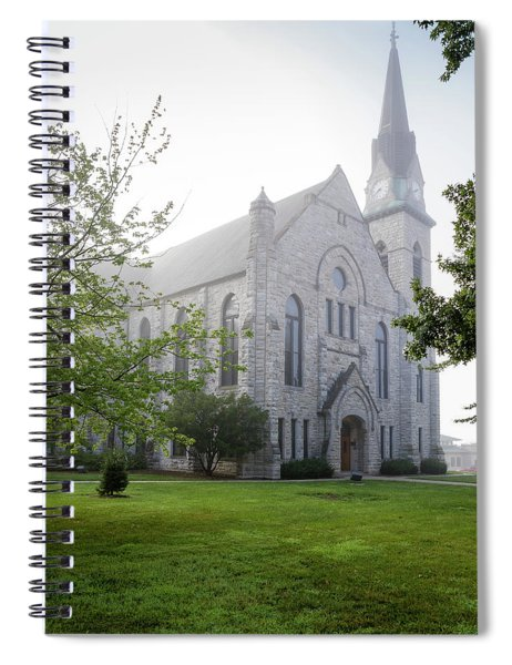 Stone Chapel In Fog Spiral Notebook