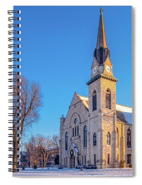 Stone Chapel In Winter Spiral Notebook