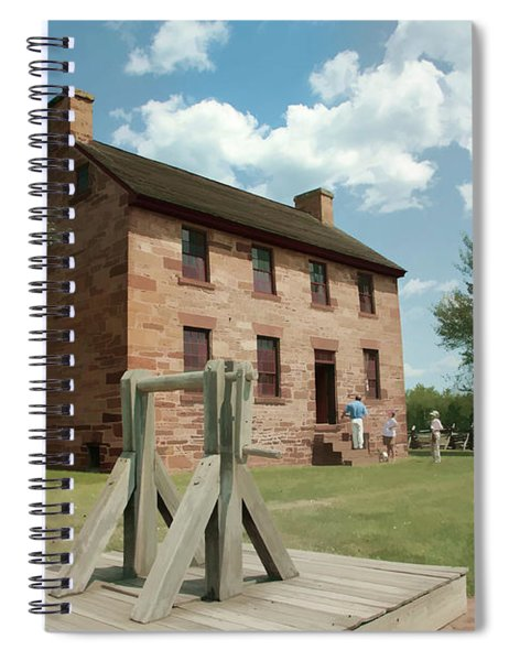 Stone House At Manassas With Digital Effects Spiral Notebook