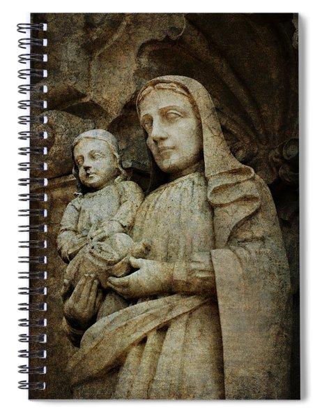 Stone Madonna And Child Spiral Notebook