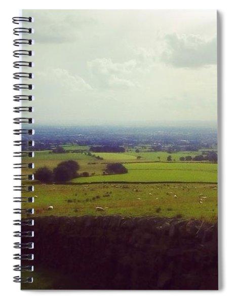 Stone Wall, Beacon Fell, Lancashire, Uk Spiral Notebook