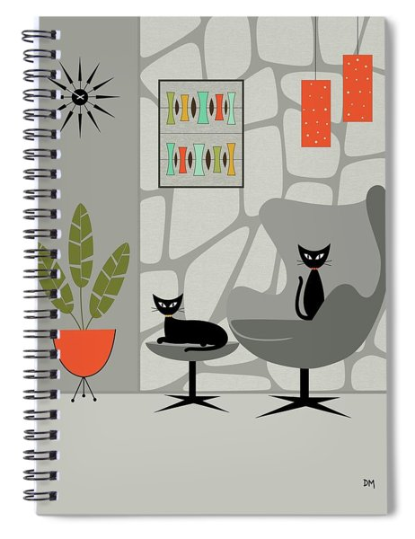 Stone Wall Gray Tones Spiral Notebook