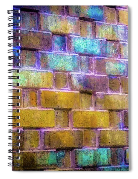 Brick Wall In Abstract 499 Spiral Notebook