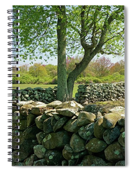 Stone Wall In Rhode Island Spiral Notebook