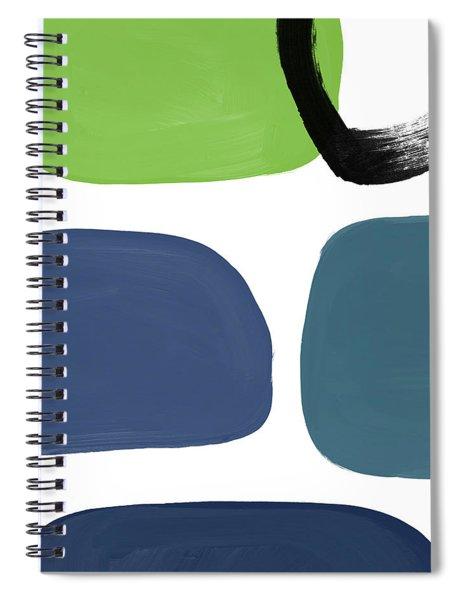 Stones 7- Modern Art By Linda Woods Spiral Notebook