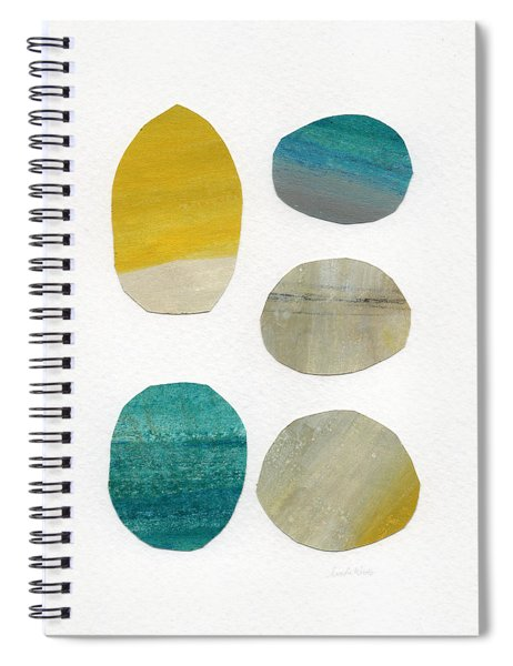 Stones- Abstract Art Spiral Notebook