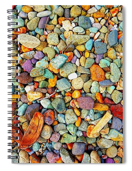 Stones And Barks On Beach Spiral Notebook