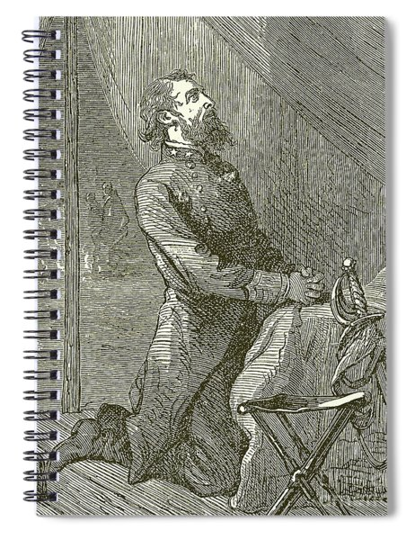 Stonewall Jackson Praying Before The Battle Spiral Notebook