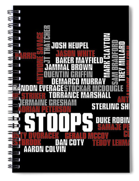 Stoops Greatest Sooners Spiral Notebook