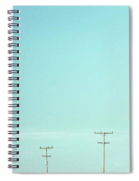 Stop And Poles Spiral Notebook
