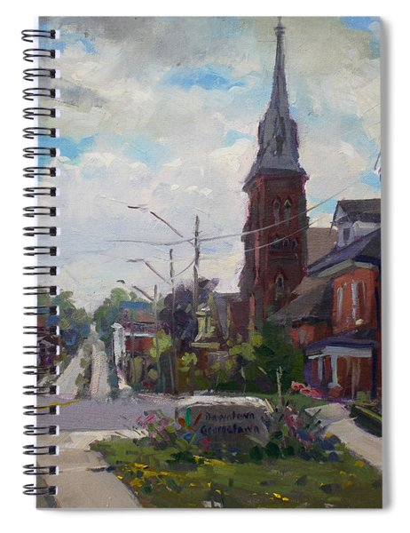 Storm Approach Over Downtown Georgetown Spiral Notebook