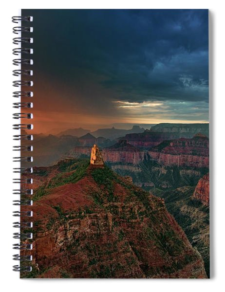 Storm Clouds North Rim Grand Canyon Arizona Spiral Notebook by Dave Welling