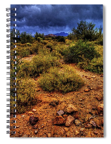 Storm Clouds Over The Sonoran Desert In Spring Spiral Notebook