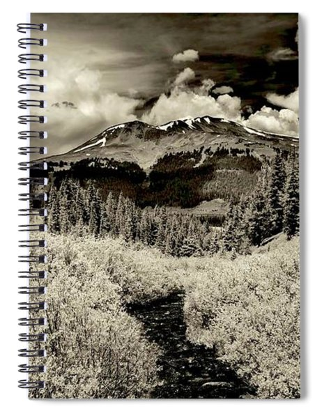 Storm In The Highlands, Summit County, Colorado Spiral Notebook